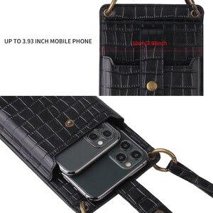 Image 3 - Signalshin Điện Thoại Di Động Mini Túi Đeo Vai Cho Iphone Xiaomi Điện Thoại Với Ví Đeo Chéo Dây Đeo Thời Trang Cá Sấu Bao Da Hoa Văn