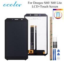 """Ocolor para doogee s60 s60 lite display lcd e tela de toque 5.2 """"digitador assembléia substituição móvel acessório + ferramentas filme"""