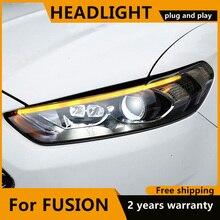 Style de voiture pour Ford Mondeo 2013 2015 phare LED pour nouvelle lampe frontale Fusion clignotant dynamique LED DRL bi xénon HID
