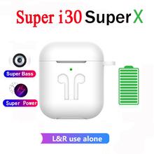 2020 nowy I30 Super X XS TWS zatyczki do uszu słuchawki bezprzewodowe Bluetooth słuchawki 9D słuchawki douszne basowe PK I7s I30 I12 I11 I9s I14 słuchawki douszne tanie tanio Erilles CN (pochodzenie) Akcesoria Zestawy słuchawkowe