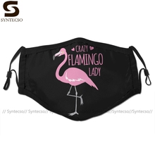 Mouth-Face-Mask Flamingo Adult Fashion with 2-FILTERS for Cool Crazy Lady