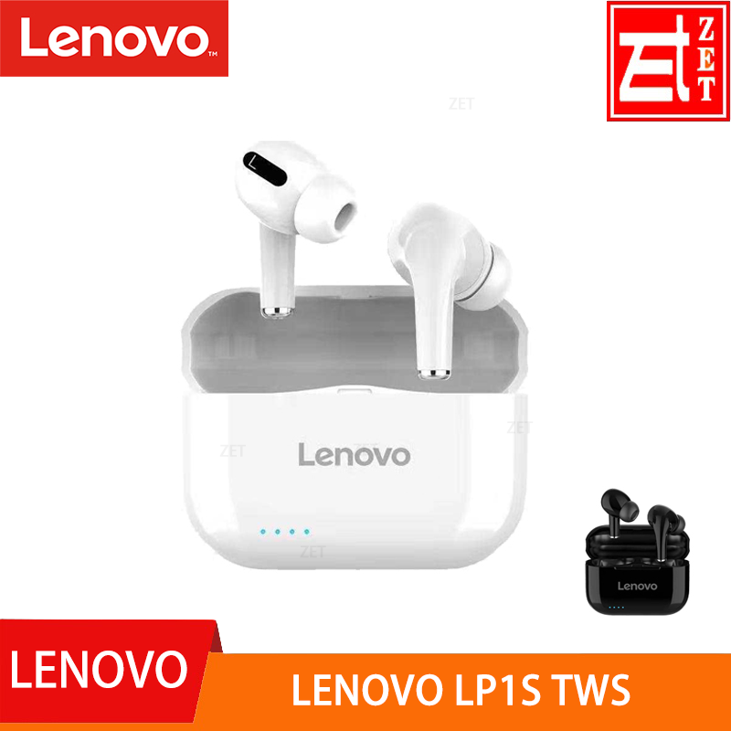 Wireless Earphone Bluetooth Lp1s Tws Ios/android Original Lenovo for 300mah Touch-Control