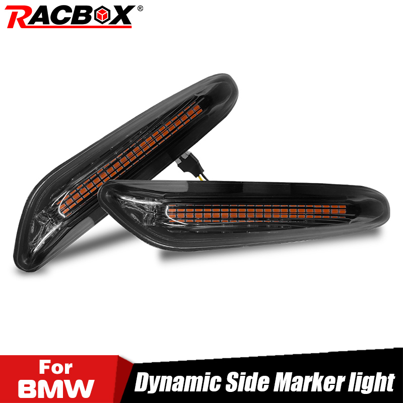 2pcs Smoke LED Side Marker Light Flowing Water Indicator Turn Signal Lights For BMW E90 E91 E92 E93 E60 E87 E82 E61 Error Free