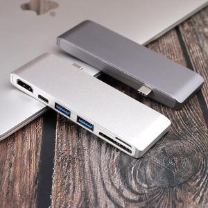 Image 5 - 6 IN 1 USB C Hub Multifunktions Typ C Adapter zu zu HDMI SD/Micro Kartenleser & 2 USB 3,0 Ports für Neue MacBook Pro 15 16 Air 13