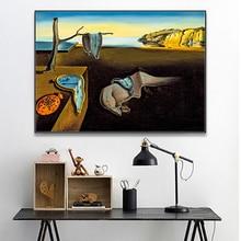 Salvador Dali стойкие часы памяти Surreal холст печати постер настенный картины для гостиной домашний декор