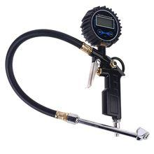 Digital Tire Inflator Pressure Gauge with Dual Head Chuck for Car Truck RV Bike