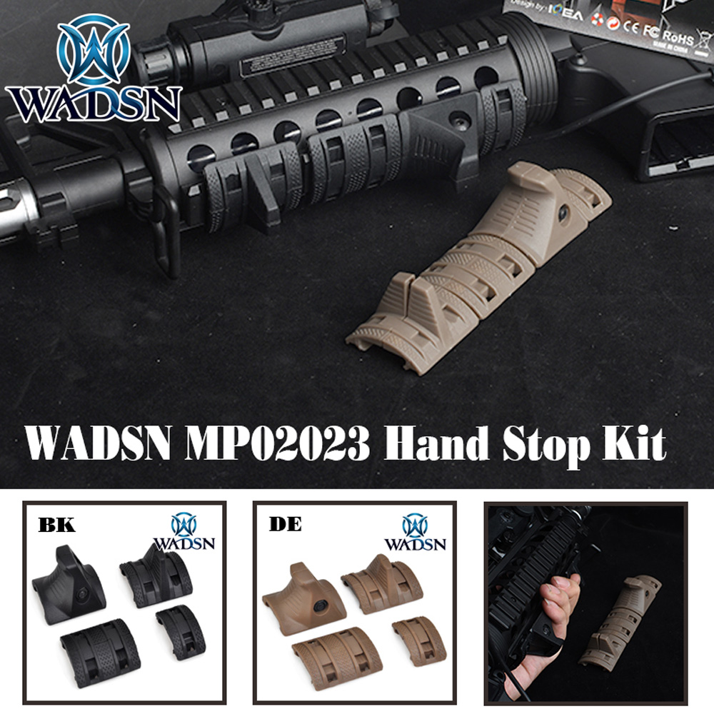 WADSN Tactical MP 4 PCS/SET EMagpul Hand Stop Kit Handguard Panels Picatiny Softair Rail Cover MP02023 Weapon Lights Accessories|Weapon Lights| |  - title=