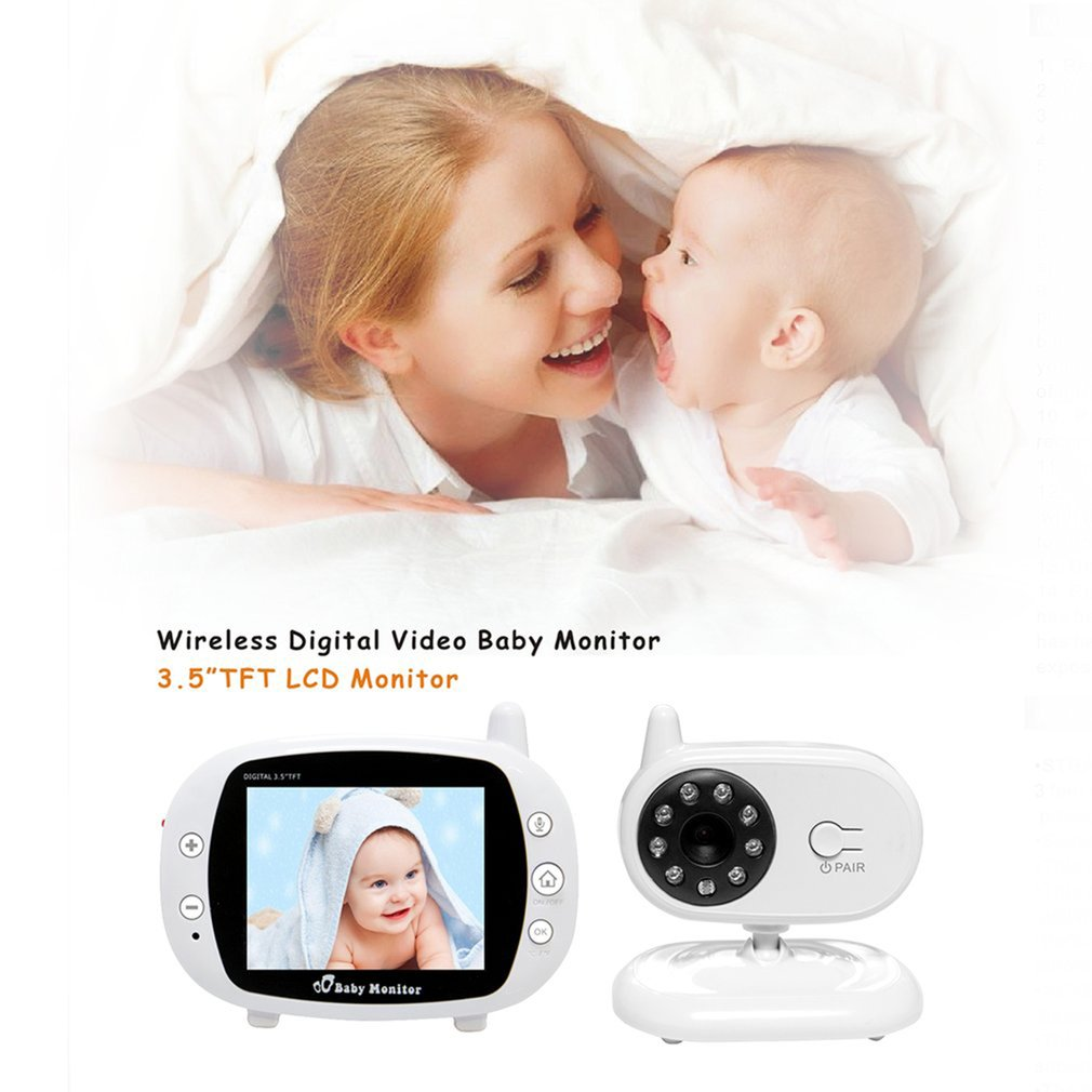 3.5 Inch LCD Screen 2.4G Digital Video Wireless Voice Control Night Security Camera Viewer 2-way Talk Baby Monitor