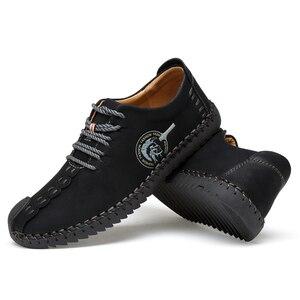 Image 5 - 38 48 נעליים יומיומיות גברים מותג 2019 נוח אופנה נעלי גברים עור #601
