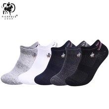 5 pairs/lot summer Mesh Breathable Cotton Socks For Men Black White Pure Color Sport Thin Style Sokken PIER POLO 2019