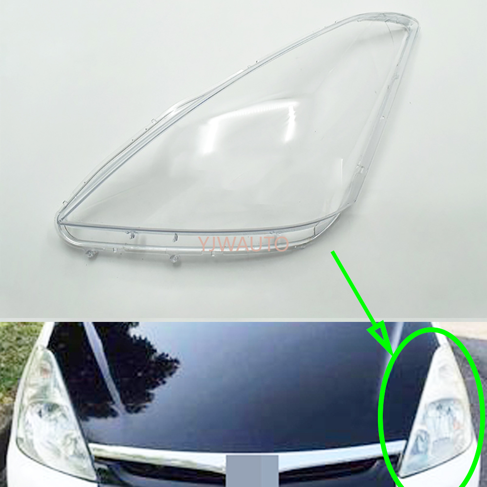 Headlight Cover For Toyota Wish 2002 2003 2004 Car Headlamp Lens Replacement Auto Shell