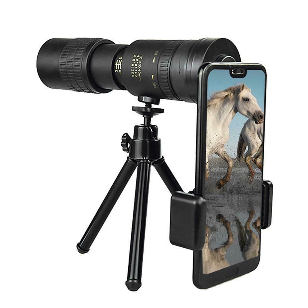Монокулярный телескоп с увеличением, телескоп дальнего действия для смартфона, военный телескоп Spyglass с увеличением HD для кемпинга и охоты