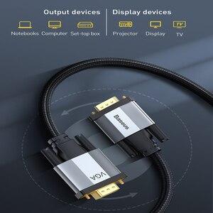 Image 4 - Baseus Cáp HDMI VGA Sang VGA 1080P VGA 15 Pin Dòng Cáp Nối Dài Cáp Âm Thanh Dành Cho Máy Chiếu máy Tính, TV VGA Dây Dây