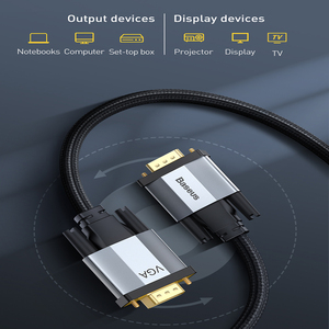 Image 4 - Baseus hdmiケーブルvgaにvgaアダプタケーブル1080 1080p vga 15ピンライン延長ケーブルオーディオケーブルプロジェクターpcのtv vgaワイヤーコード