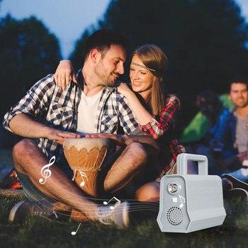 Power Panel LED Solar Generator Kit Bluetooth Speaker USB Charger Home System + 2 LED Bulbs Outdoor Lighting Smartphone Charging 5