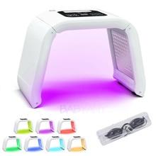 Профессиональный 7 цветов светодиодный светильник для фотонной маски терапия PDT лампа косметическая машина лечение кожи подтягивание акне удаление морщин омоложение кожи