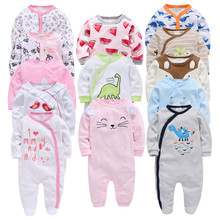 Honeyzone 3 4 pcs/lot Baby Rompers Long Sleeve Cotton Baby Girl Body Suits New b
