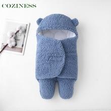 COZINESS Newborn Baby Thickening Sleeping Bag Baby Anti-Shock Bedding Imitation Cashmere Blanket Swaddling Warm Winter Necessary