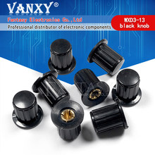 5PCS WXD3-13 WXD3-13-2W preto botão cap botão é adequado para a alta qualidade virar especial potenciômetro knob KYP16-16-4