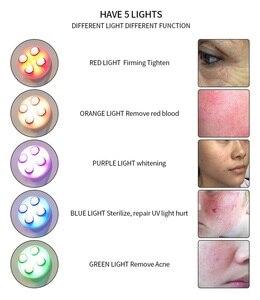 Image 2 - Appareil de raffermissement du visage, anti rides, soins de la peau, outil de massage par radiofréquence LED photons, mésothérapie, soins du visage