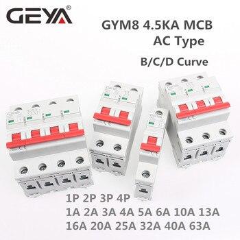 Jednofazowy MCB 6A 10A 16A 20A 25A 32A 40A 50A 63A 220V/400V Mini wyłącznik instalacyjny krzywej C