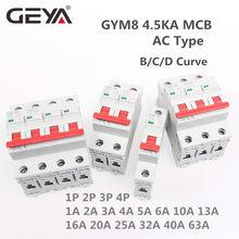 Mini disjoncteur à courbe C monophasé MCB, 6a, 10a, 16a, 20a, 25a, 32a, 40a, 50a, 63a, 220V/400V
