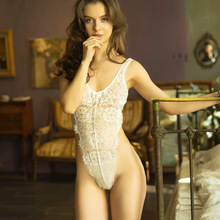 Women's erotic lingerie women's lace tight sexy suspenders temptation jumpsuit hollow pajamas