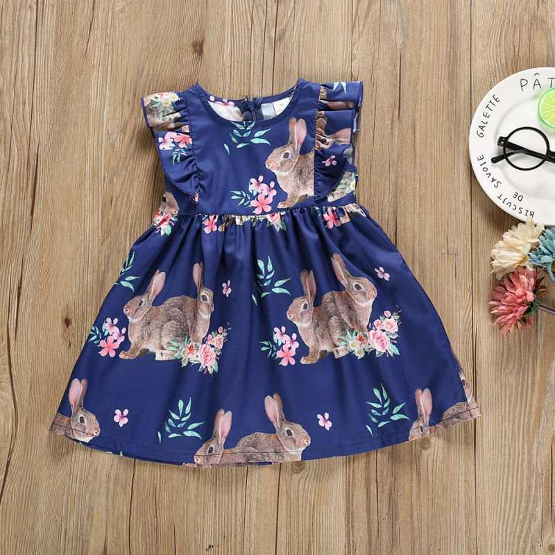 Toddler Infant Baby Girls Dress Cartoon Rabbit Princess Dress Kids Clothes Outfit Girls Kids Dresses Easter Day Costume