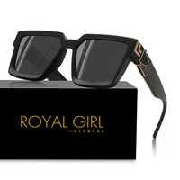 REALE DELLA RAGAZZA 2020 New Fashion Square Occhiali Da Sole Del Progettista di Marca di Plastica Struttura In Metallo Occhiali Da Sole Unisex ss359