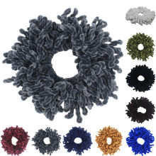 Banda de goma Flexible Scrunchies niñas banda de soga para cabello elástico mujeres Simple Hijab Volumizing Scrunchies lazo para el pelo grande sombreros(China)