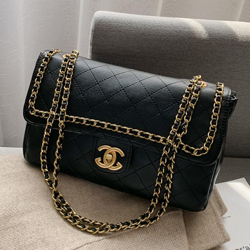 Fashion Rhombic Chain Shoulder Messenger Bag Women Handbag 2019 Famous Designer Plaid Diamond Lattice Crossbody Bag Channel Bags