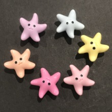 Shoe-Charms Decoration Backpack Cartoon Resin Wristbands Party-Gift 3D Diy Fishstar