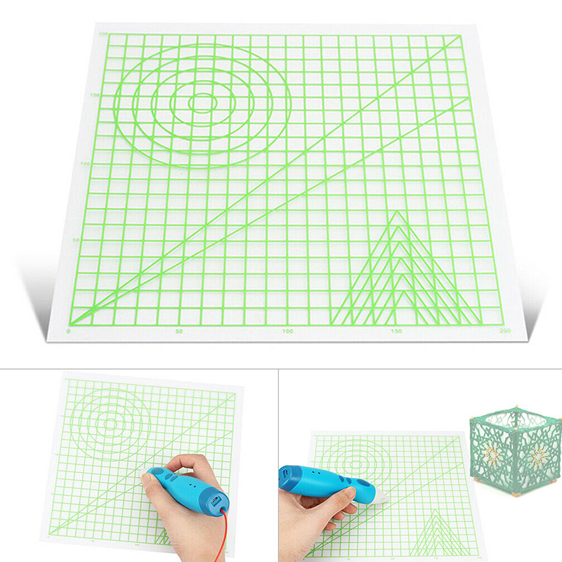 3D Printing Template Useful Multi-shaped Plastic Design Mat For 3D Printing Pen Basic Template Art Supplies Drawing Tool Gift