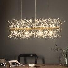 Kar tanesi avize İskandinav tarzı lamba yaratıcı kişilik kristal modeli atmosfer ışığı lüks oturma odası aydınlatma