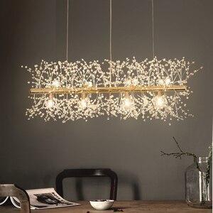 Image 1 - Kar tanesi avize İskandinav tarzı lamba yaratıcı kişilik kristal modeli atmosfer ışığı lüks oturma odası aydınlatma