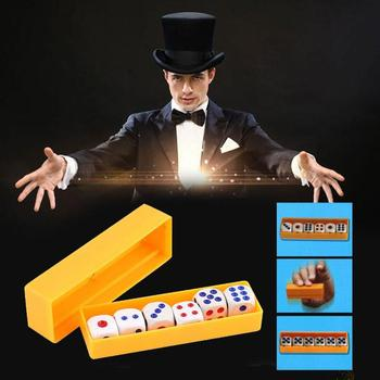 Predict Dice Tricks Six Dice Flashing Change Props Thousand Change Dice Bricks Escape Close-up Stage Toys image