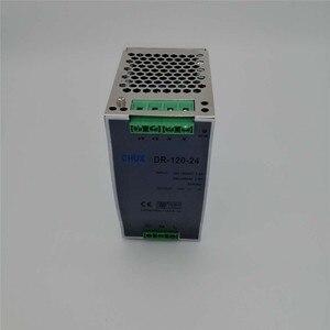 Image 5 - מסילת Din החלפת ספק כוח 120W 12v 24v 48v DC AC DR120W פלט יחיד LED נהג SMPS מתג שנאי