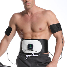 6 Modes EMS Abdominal Trainer Electric Body Massager Slimming Waist Belt Weight Loss Fitness Muscle Stimulator for Man and Woman
