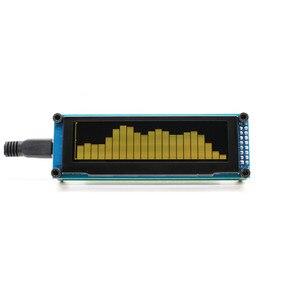Image 4 - Aiyima oled 음악 오디오 스펙트럼 표시기 분석기 15 레벨 uv 미터 mp3 mp4 mp5 전화 속도 조정 가능한 agc usb dc5v for amp
