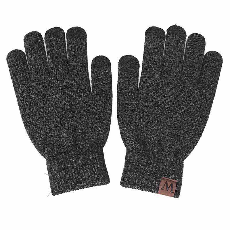 YEABIU, зимняя женская шапка, шарф, перчатки, набор, теплые, для девушек, Skullies Beanies, шапка, Infinity, для мужчин, шапка с сенсорным экраном, перчатки, набор для женщин - Цвет: dark grey