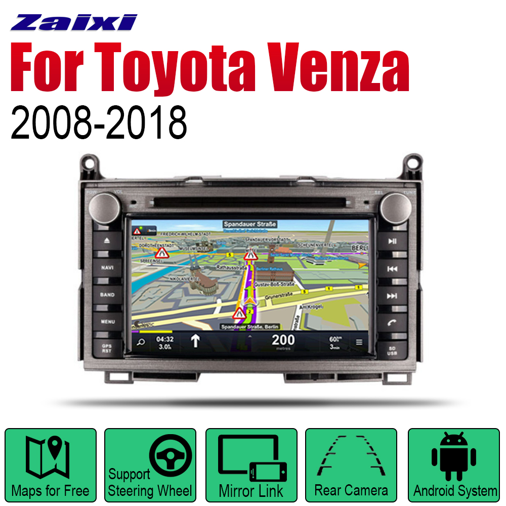 ZaiXi Android 2 Din Auto Radio DVD For Toyota Venza 2008~2018 Car Multimedia Player GPS Navigation System Radio Stereo image