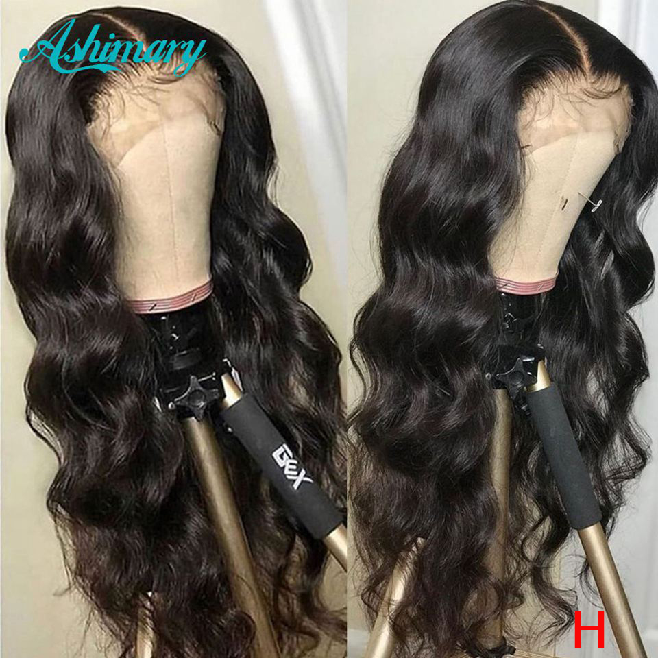 13x4 Lace Front Human Hair Wigs Remy Brazilian Body Wave Lace Front Wigs 180 Density Lace Wigs Human Hair High Ratio Ashimary