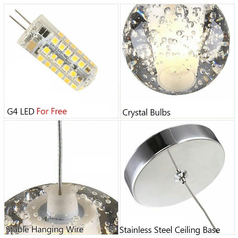 FSS christmas decorations for home AC 110V 220V 240V Adjustable Crystal Pendant Lights