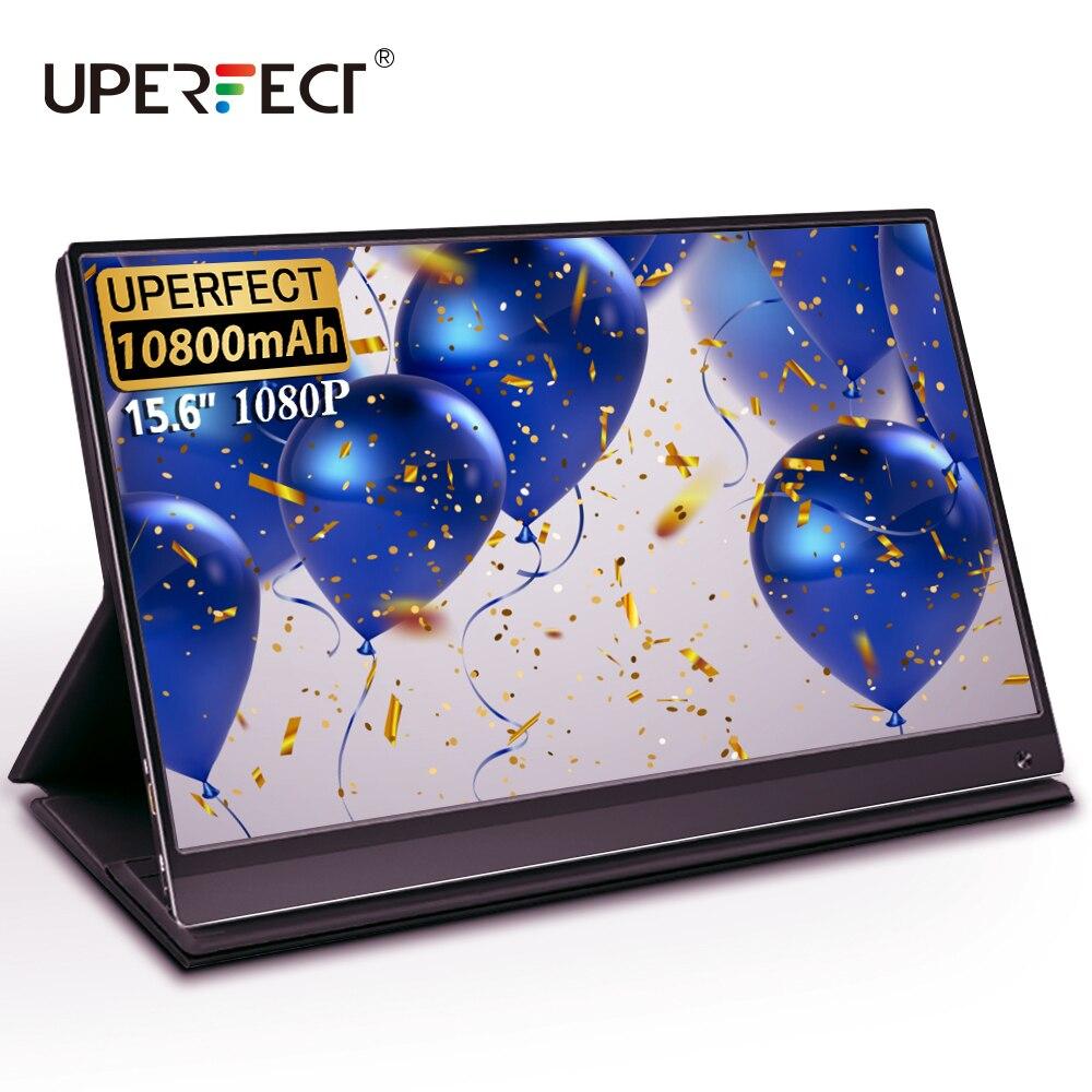 Uperfect 15.6 pollici Touch Monitor Portatile USB C HDMI monitor touch screen con la Batteria per Samsung DEX EMUI Interruttore Del Computer Portatile PS4