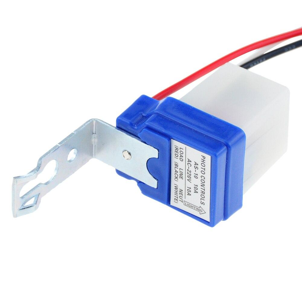 3pcs AC 220V 10A Automatic Auto On Off Street Light Switch Photo Control Sensor