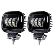 5 Inch Square 6000K LED WORK LIGHT 12V  24V for Car Auto 4x4 Off Road ATV Tractor Trucks SUV Motorcycle Driving Lights