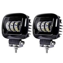 Luz LED de trabajo cuadrada de 5 pulgadas, 6000K, 12V  24V para coche, 4x4, todoterreno, ATV, Tractor, camiones, SUV, luces de conducción para motocicleta