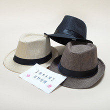 цена на 25 Kinds New fashion men's fedora Cotton and linen fabric Panama solid color hat jazz hat men and women couples England visor