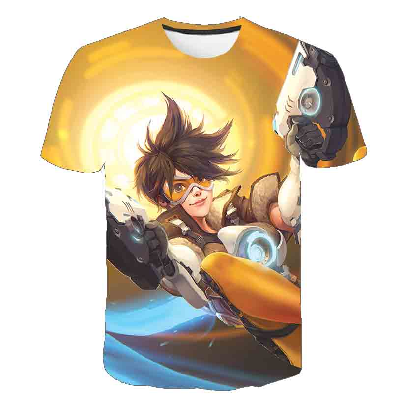 Men Tshirts Overwatch Game T-shirt Cassics Gamer Gaming Tshirt 3D Cartoon T Shirts  top Blizzard Overwatch Video Game Characters 5