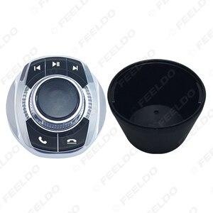 Image 4 - FEELDO nuova forma a tazza con luce a LED funzioni a 8 tasti pulsante di controllo del volante Wireless per auto per lettore di navigazione Android per auto